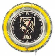Army Black Knights Neon Clock