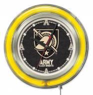 Army Black Knights Neon Clock