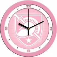 Army Black Knights Pink Wall Clock