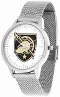 Army Black Knights Silver Mesh Statement Watch