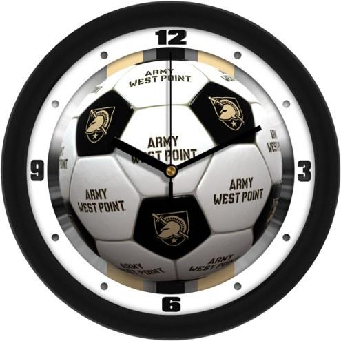 Army Black Knights Soccer Wall Clock