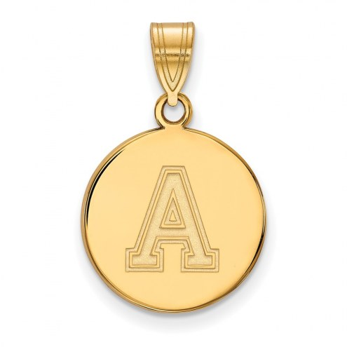 Army Black Knights Sterling Silver Gold Plated Medium Disc Pendant