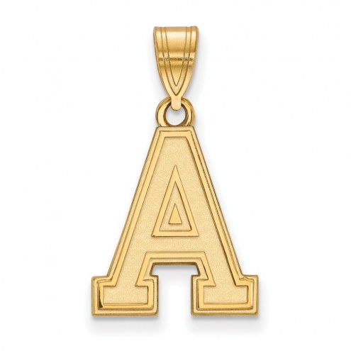 Army Black Knights Sterling Silver Gold Plated Medium Pendant