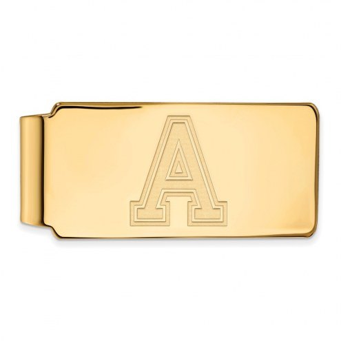 Army Black Knights Sterling Silver Gold Plated Money Clip