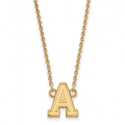 Army Black Knights Sterling Silver Gold Plated Small Pendant Necklace