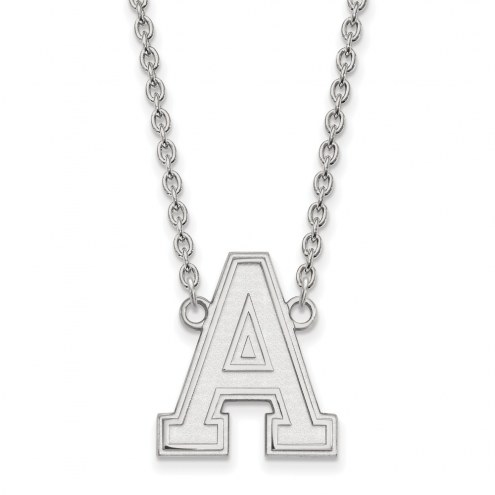 Army Black Knights Sterling Silver Large Pendant Necklace