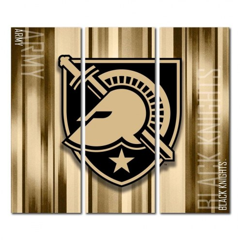 Army Black Knights Triptych Rush Canvas Wall Art
