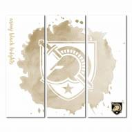 Army Black Knights Triptych Watercolor Canvas Wall Art