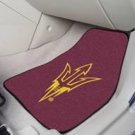 ASU Sun Devils 2-Piece Carpet Car Mats