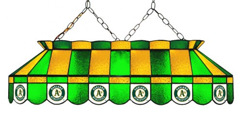 "Oakland Athletics MLB Team 40"" Rectangular Stained Glass Shade"