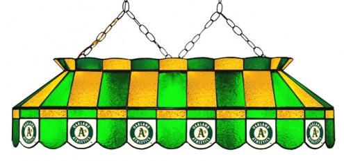 "Oakland Athletics MLB Team 40"" Rectangular Stained Glass Shade"