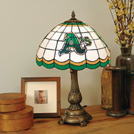 Oakland Athletics MLB Stained Glass Table Lamp