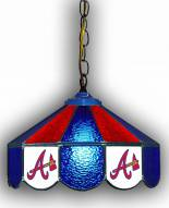 "Atlanta Braves 14"" Glass Pub Lamp"