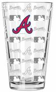 Atlanta Braves 16 oz. Sandblasted Pint Glass