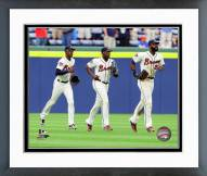 Atlanta Braves Action Framed Photo