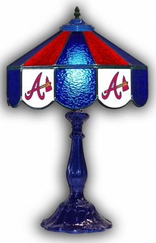 """Atlanta Braves 21"""" Glass Table Lamp"""