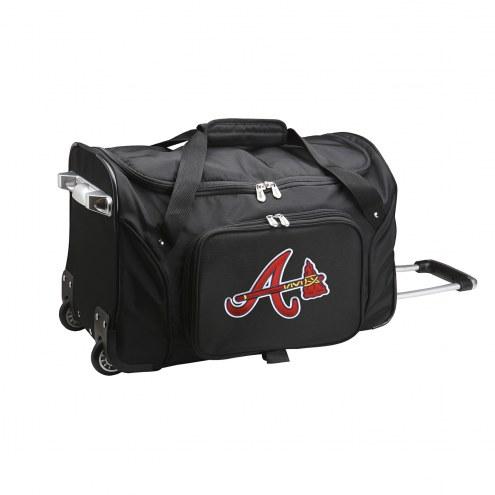 """Atlanta Braves 22"""" Rolling Duffle Bag"""