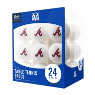Atlanta Braves 24 Count Ping Pong Balls