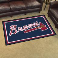 Atlanta Braves 4' x 6' Area Rug