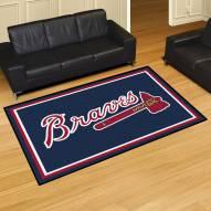 Atlanta Braves 5' x 8' Area Rug