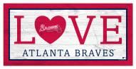 """Atlanta Braves 6"""" x 12"""" Love Sign"""