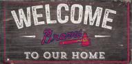 "Atlanta Braves 6"" x 12"" Welcome Sign"