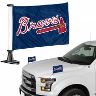 Atlanta Braves Ambassador Hood & Trunk Car Flag