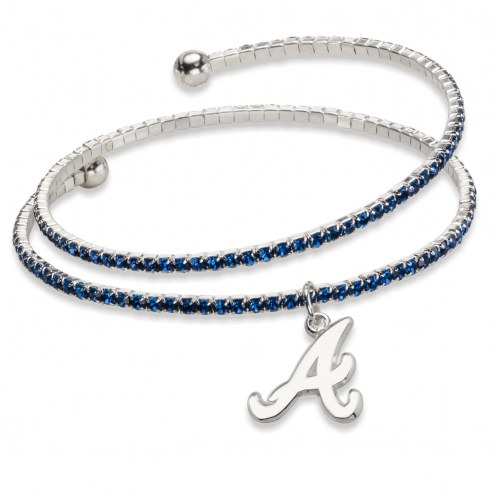 Atlanta Braves Amped Logo Crystal Bracelet