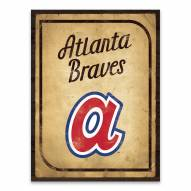 Atlanta Braves Vintage Card Printed Canvas