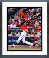 Atlanta Braves B.J. Upton Action Framed Photo