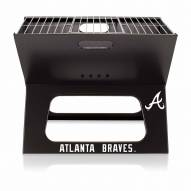 Atlanta Braves Black Portable Charcoal X-Grill