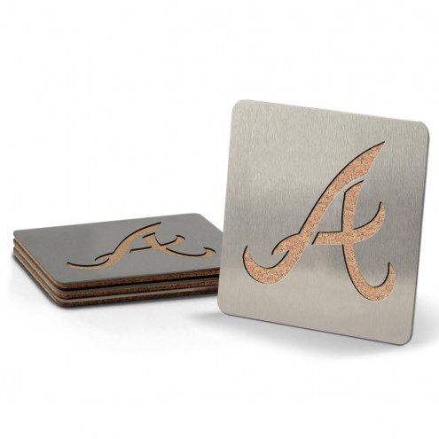 Atlanta Braves Boasters Stainless Steel Coasters - Set of 4