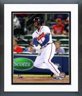Atlanta Braves Cameron Maybin Action Framed Photo