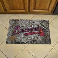 Atlanta Braves Camo Scraper Door Mat