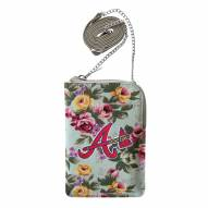 Atlanta Braves Canvas Floral Smart Purse