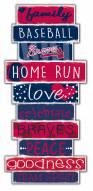 Atlanta Braves Celebrations Stack Sign