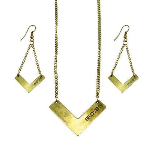 Atlanta Braves Chevron Jewelry Set