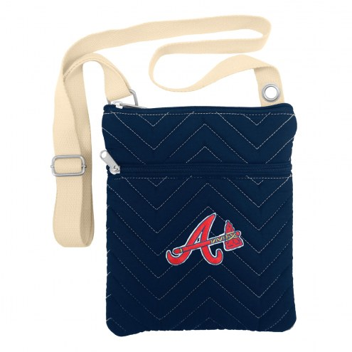 Atlanta Braves Chevron Stitch Crossbody Bag