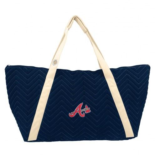 Atlanta Braves Chevron Stitch Weekender Bag