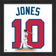 Atlanta Braves Chipper Jones Uniframe Framed Jersey Photo