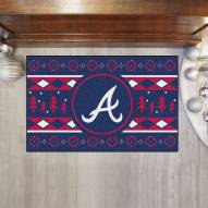 Atlanta Braves Christmas Sweater Starter Rug