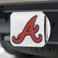 Atlanta Braves Chrome Color Hitch Cover