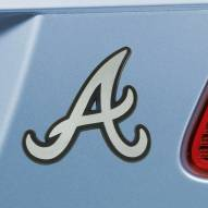 Atlanta Braves Chrome Metal Car Emblem
