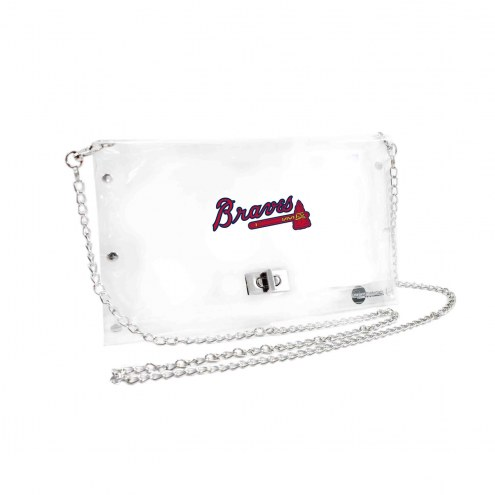 Atlanta Braves Clear Envelope Purse