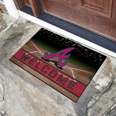 Atlanta Braves Crumb Rubber Door Mat