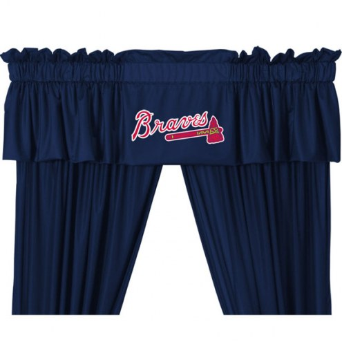 Atlanta Braves Curtain Valance