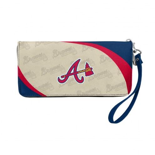 Atlanta Braves Curve Zip Organizer Wallet