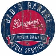 Atlanta Braves Dad's Garage Sign