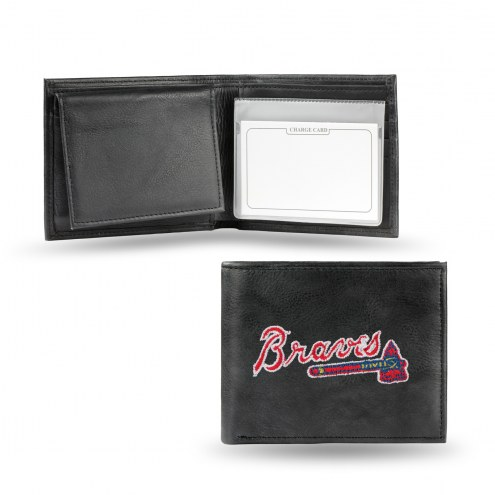 Atlanta Braves Embroidered Leather Billfold Wallet
