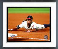 Atlanta Braves Eric Young Action Framed Photo